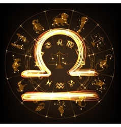 Zodiac sign Libra vector image