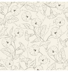 Bindweed flower seamless pattern vector
