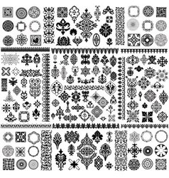 floral filigree Elements set vector image vector image