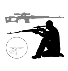 Hunter vector image vector image