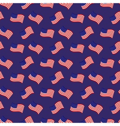 Seamless pattern of American native flags vector image