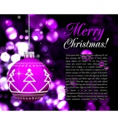 background with christmas balls illustration vector image vector image