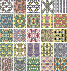 Big set of abstract retro style seamless patterns vector image