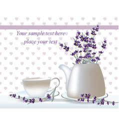 Delicate tea time card herbs banners with vector
