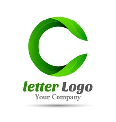 Letter C eco leaves logo icon Volume Logo Colorful vector image