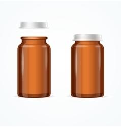 Medical Glass Brown Bottle vector image vector image
