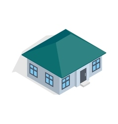 One storey house icon isometric 3d style vector image vector image