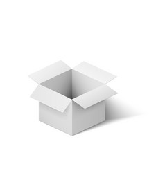 open white box isolated on white background vector image vector image