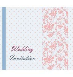 Vintage retro Wedding invitation vector image