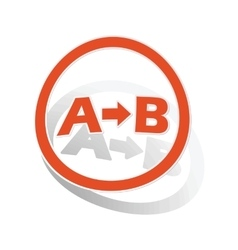 A-b logic sign sticker orange vector
