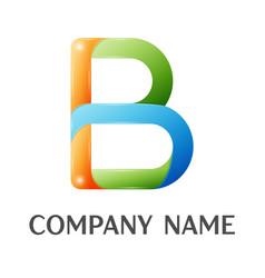 b letter colorful logo vector image