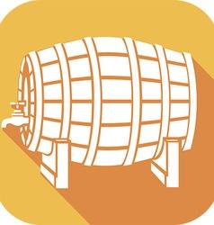 Beer barrel icon vector