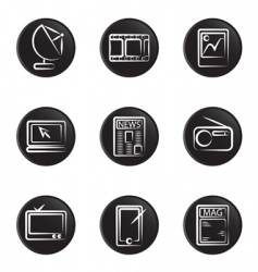 electronic object icon vector image vector image