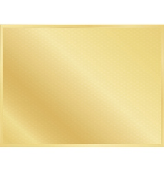 golden background with border vector image