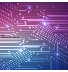 Hi-tech background computer system board vector image