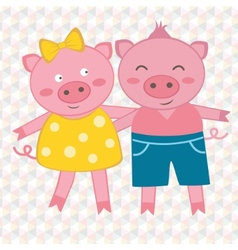 Spring pigs vector image vector image