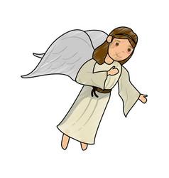 beautiful angel cartoon vector image