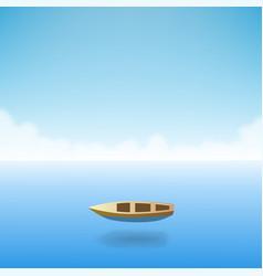 empty boat in the ocean vector image vector image