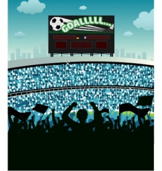 soccer stadium vector image vector image