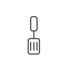 spatula line icon sign on vector image