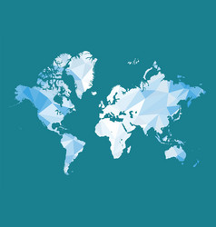 world map in polygon style vector image vector image