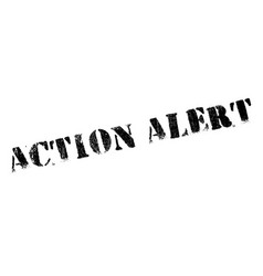 action alert rubber stamp vector image