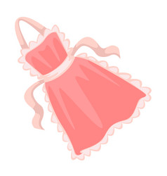 Apron for kitchen housewife cooking accessory vector