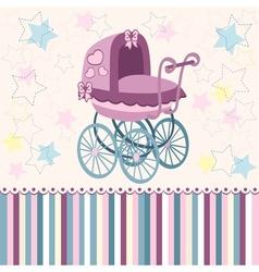 Baby pram vector