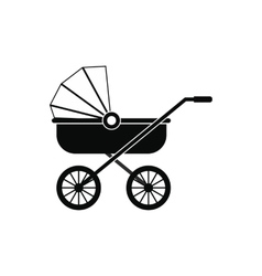 bacarriage black simple icon vector image