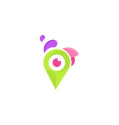 Bird parrot location media modern logo vector