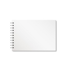 blank notebook with clipping path isolated on vector image
