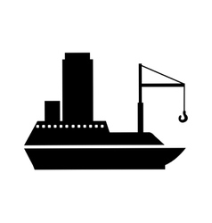 boat or ship pictogram icon image vector image