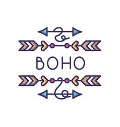 Boho arrows rgb color icon bohemian aesthetic and vector