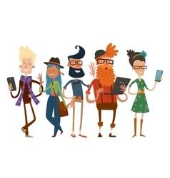 Business team people group portrait website vector