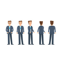 Businessman in strict business work clothes vector
