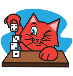 Cat and Dice vector