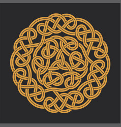 Celtic circle cross vector