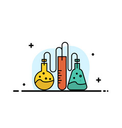 Chemical dope lab science business flat line vector