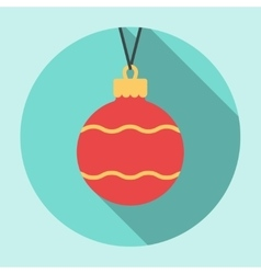 Christmas Ball Icon vector image