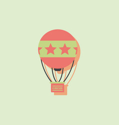 Circus watercolor hot air balloon in sticker style vector