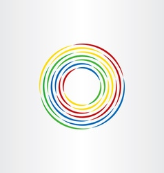 color circle lines abstract background vector image