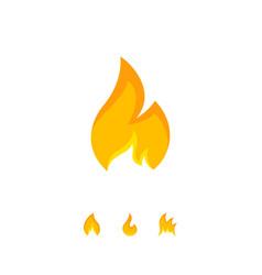 colorful design of simple flame icon vector image