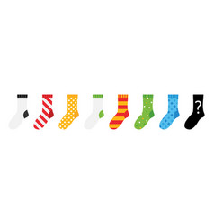 colorful socks icons vector image