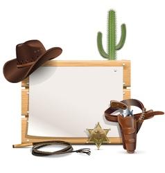 Cowboy frame vector