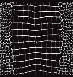 crocodile skin black and white seamless pattern vector image