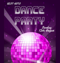 Dance disco party holiday event background vector