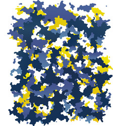 digital blue and yellow camouflage vector image