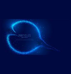 Digital blue particles flow background vector