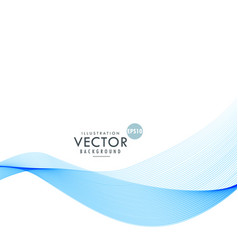 Elegant blue smooth wave baclground vector