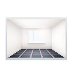 empty room with ir heating floor and window vector image